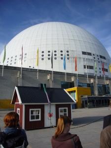 Huset framför Globen