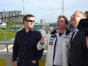Mikael Genberg i ögonblicket när huset sätts på Globen