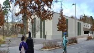 Fotomontage från inriktningsbesluet kring Stora Mossen (en enklare hall)